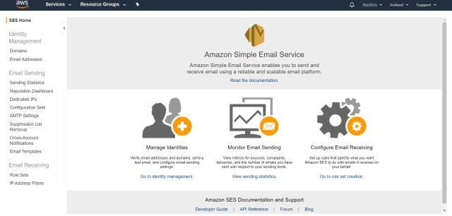 AWS管理控制台主頁