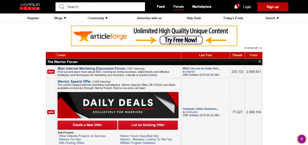 best online marketing communities